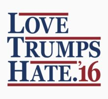 Love Trumps Hate Kids Tee