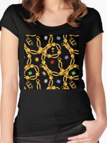 gold party  3 Women's Fitted Scoop T-Shirt