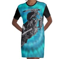 biker blues Graphic T-Shirt Dress