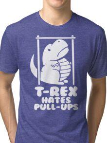 T-Rex Hates Pull Ups Tri-blend T-Shirt