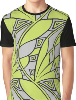 Modern art nouveau tessellations green and gray Graphic T-Shirt