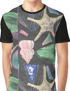 Shells and Fruit Graphic T-Shirt