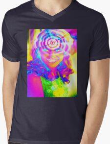 ELECTRIC RAINBOW Mens V-Neck T-Shirt