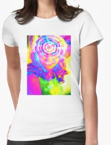 ELECTRIC RAINBOW Womens Fitted T-Shirt