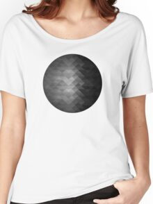 Grayscale triangle geometric squares Women's Relaxed Fit T-Shirt