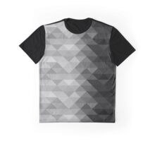 Grayscale triangle geometric squares Graphic T-Shirt