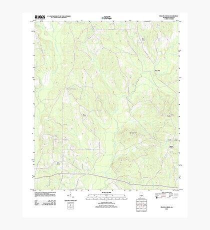 USGS TOPO Map Alabama AL Pigeon Creek 20110915 TM Photographic Print