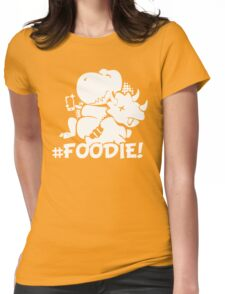 Hash Tag Foodie Dinosaur Selfie Womens Fitted T-Shirt