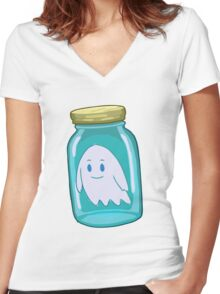 Small Bottle - RICK MORTY Women's Fitted V-Neck T-Shirt