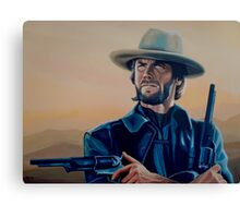 Clint Eastwood Painting Canvas Print