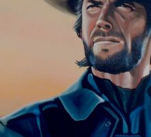 Clint Eastwood Painting Sticker