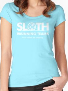 Sloth Running Team Women's Fitted Scoop T-Shirt