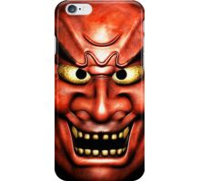 Japanese 'Oni' style mask graphic iPhone Case/Skin
