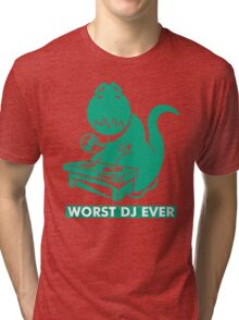 T-Rex is Worst DJ Ever Tri-blend T-Shirt