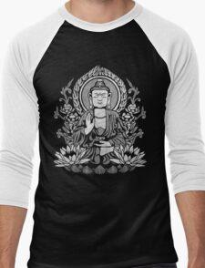 Siddhartha Gautama Buddha White Men's Baseball ¾ T-Shirt