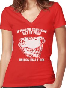 Unless Its A T-Rex Women's Fitted V-Neck T-Shirt