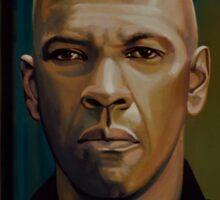 Denzel Washington in The Equalizer Painting Sticker