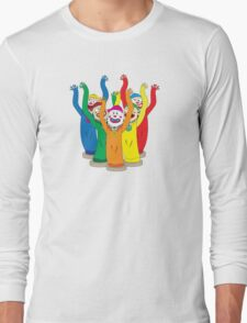 Weird & Wacky Waving Inflatable Arm Flailing Tube Man Long Sleeve T-Shirt