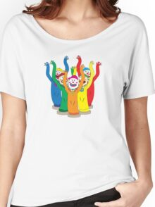 Weird & Wacky Waving Inflatable Arm Flailing Tube Man Women's Relaxed Fit T-Shirt