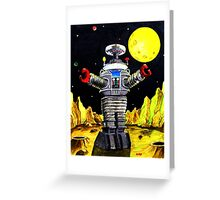 B-9 ROBOT LOST IN SPACE Greeting Card