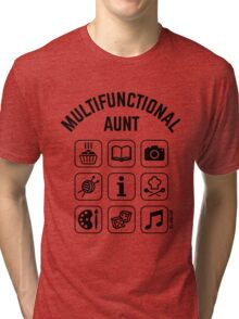 Multifunctional Aunt (9 Icons) Tri-blend T-Shirt