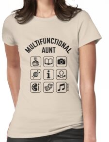 Multifunctional Aunt (9 Icons) Womens Fitted T-Shirt