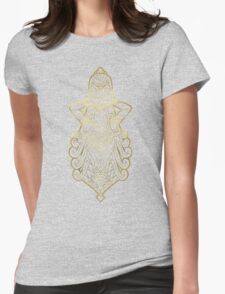 Aquarius gold Womens Fitted T-Shirt