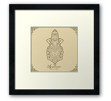 Aquarius gold Framed Print