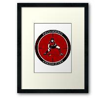 Field Hockey Sticker Framed Print