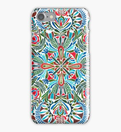 The middle of the Earth -  mandala pattern iPhone Case/Skin