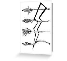 Funny Broomstick Greeting Card