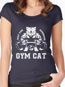 Not the average GYM CAT Women's Fitted Scoop T-Shirt