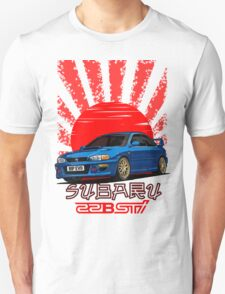 Subaru Impreza 22B WRX STI - R.I.P. EVO (Blue) Unisex T-Shirt