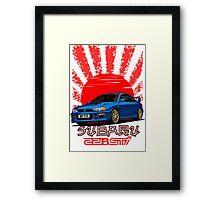 Subaru Impreza 22B WRX STI - R.I.P. EVO (Blue) Framed Print