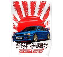 Subaru Impreza 22B WRX STI - R.I.P. EVO (Blue) Poster