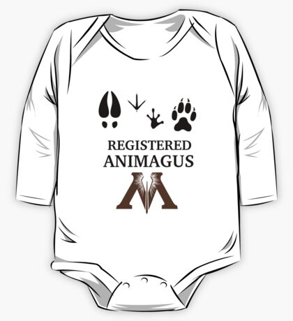 Registered Animagus - Foot Prints - Ministry of Magic One Piece - Long Sleeve