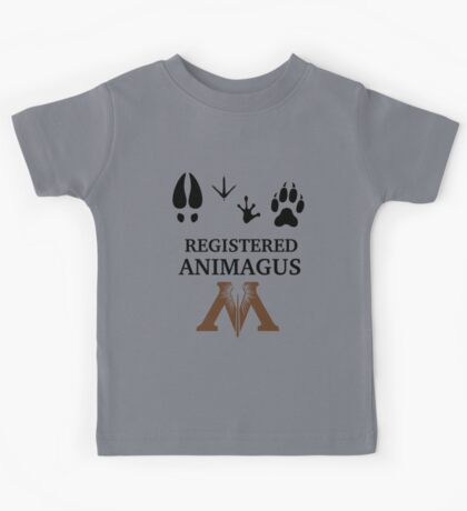 Registered Animagus - Foot Prints - Ministry of Magic Kids Tee