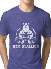 Not the average GYM STALLION Tri-blend T-Shirt