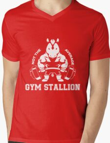 Not the average GYM STALLION Mens V-Neck T-Shirt