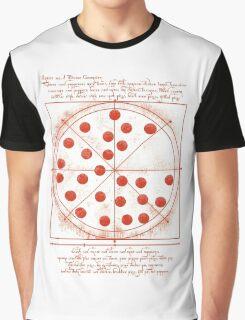 Leonardo da Vinci's Pizza  Graphic T-Shirt
