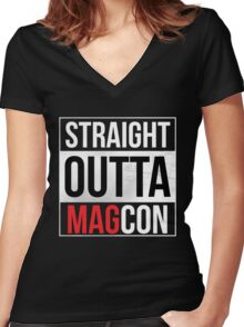 Straight Outta MagCon Women's Fitted V-Neck T-Shirt