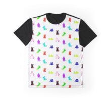 Teletext Mice on White Graphic T-Shirt