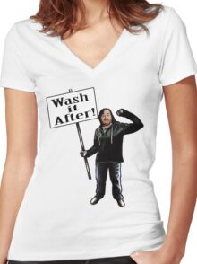 Wash It After Women's Fitted V-Neck T-Shirt