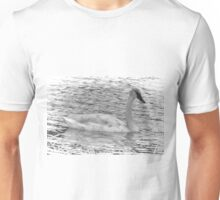 Trumpeter Swan (BW) Unisex T-Shirt