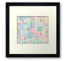 Summer Squares Framed Print