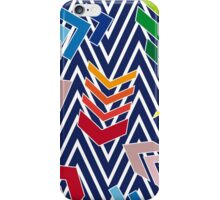 Multicolored chevron pattern with colorful arrows. iPhone Case/Skin