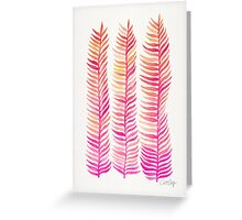 Pink Ombré Seaweed Greeting Card