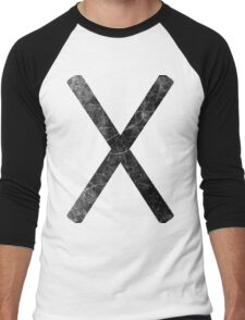 Marks the Spot - Black Men's Baseball ¾ T-Shirt