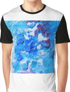 Abstract acrylic painting - a snowstorm. Graphic T-Shirt