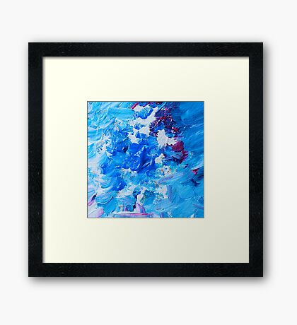 Abstract acrylic painting - a snowstorm. Framed Print